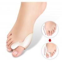Gel Bunion Protector Toe Straightener Spreader Correctors - Medical Grade Gel