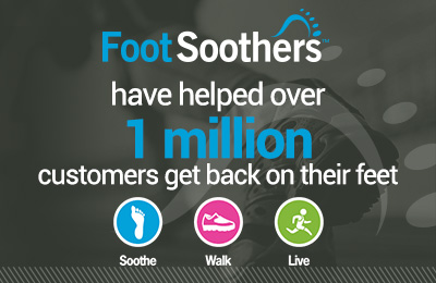 Foot Soothers have helped over 1 million customers get back on their feet