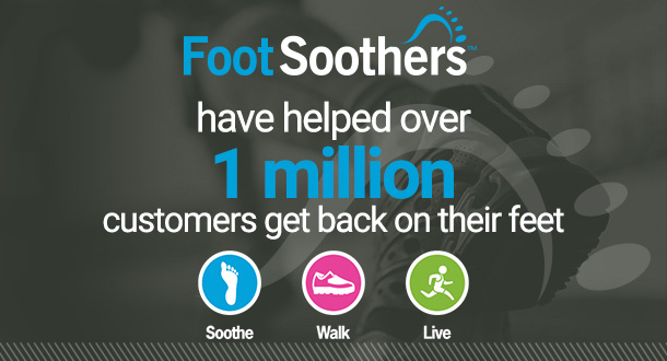 FootSoothers have helped over 1 million customers